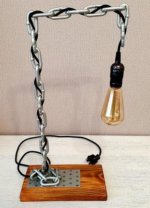 Настольная лампа. светильник. ручная работа.