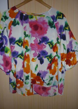 Яркая нарядная блузка большого размера 52 f&f