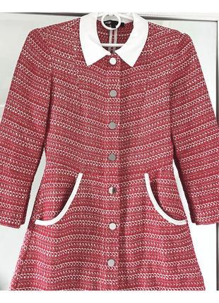 Шикарное твидовое платье от дорогого французского бренда maje