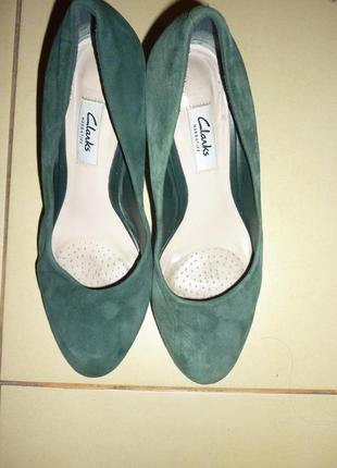 Замшевые туфли от clarks 40 размер