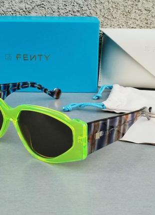 Fenty off record оригинальные женские солнцезащитные очки салатовые кислотные стильные яркие хитовые
