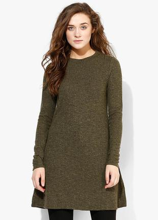 Платье женское в рубчик topshop демисезон зима м