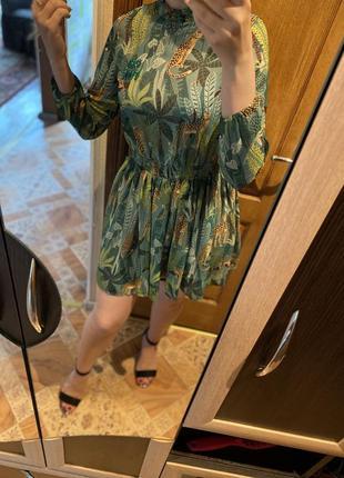 Платье. платье в принт 🐆☘️🌿