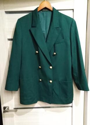 Стильный пиджак винтаж m&s