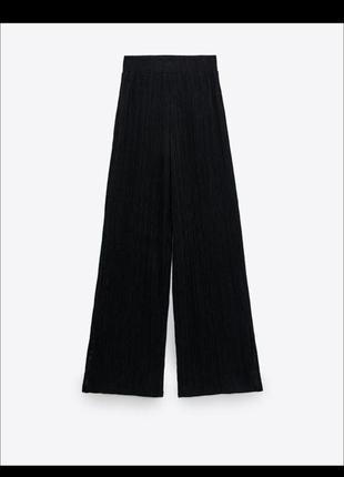 Чёрные легкие штаны палаццо zara на лето