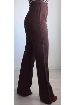 Брюки, штани коричневі, брюки клёш, расклёшенные штаны, стилный, удобные, трендовые.
