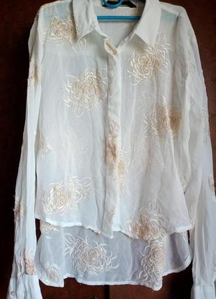 Блуза рубашка вышитая