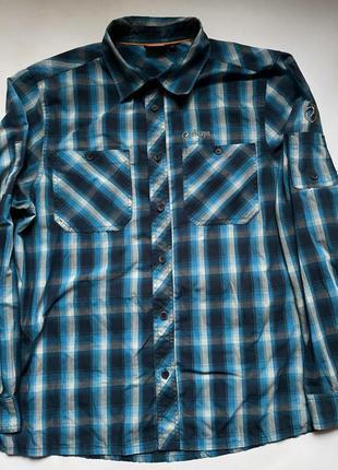 Sherpa сорочка трекинговая туристическая клетка рубашка тенниска