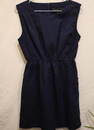 Платье с карманами декор пуговицы1 фото