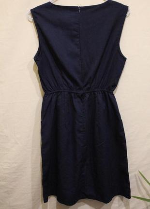 Платье с карманами декор пуговицы2 фото