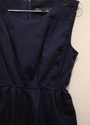 Платье с карманами декор пуговицы5 фото