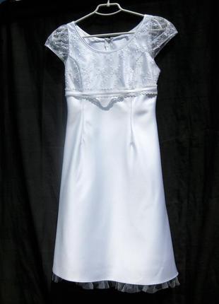 Платье lilly свадебное выпускное белое короткое