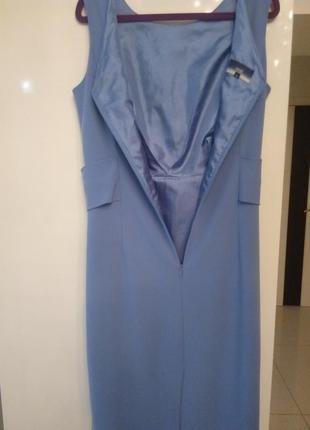 Нежно-голубого красивейшего цвета платье м-л бренд next