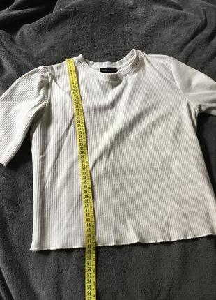 Топ базовий,футболка базовая, молочна/белая