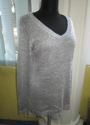Стильная туника - пуловер! паетки,люрекс! множество вещей по доступным ценам!