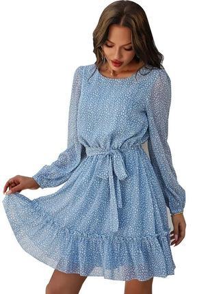 Красивое нежное платье шифон