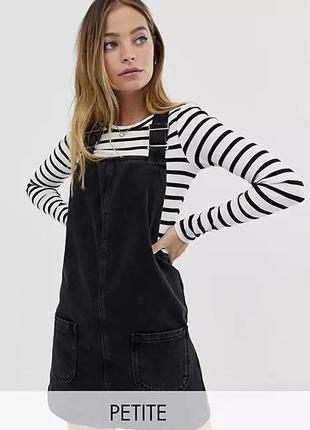 Джинсовый сарафан new look petite джинсовое платье