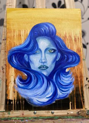 Картина с изображением девушки