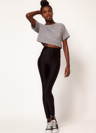 Леггинсы с высокой талией american apparel блестящие бренд