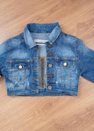Джинсовое болеро,джинсовая куртка короткая