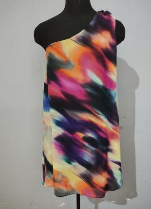 Радужное ассиметричное платье