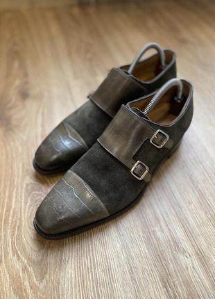 Туфли дабл монки крокодил carlos santos