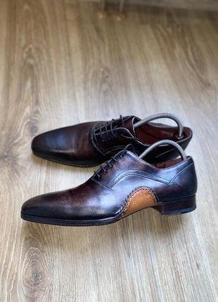 Шикарные мужские туфли дерби броги мокасины magnani