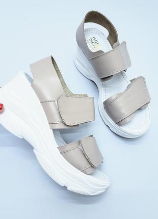 Босоножки кожаные на липучках р35-40 сандалии туфли босоніжки шкіряні сандалі туфлі