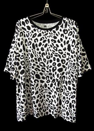 Качественная футболка с леопардовым принтом, чистый хлопок р.22