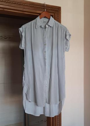 Рубашка сорочка блуза без рукав свободного кроя