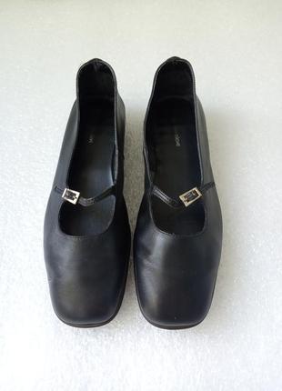 Кожаные туфли балетки женские размер 38
