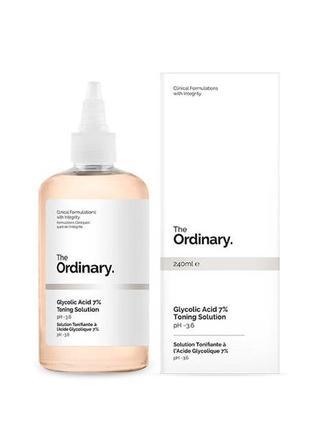The ordinary - glycolic acid 7% toning solution - тоник с 7% гликолевой кислотой - 240 ml