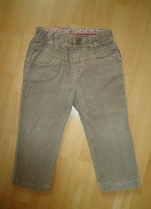 Классные вельветовые штаны zara baby 12-18 мес рост 80-86