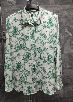 Блуза в стиле диор принт туаль де жуи
