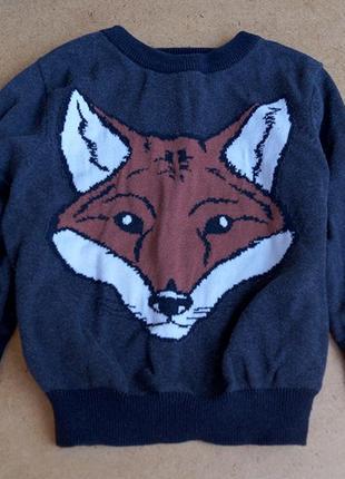 Кофта з лисом для хлопчика