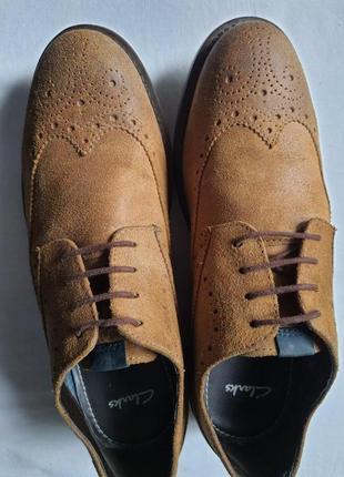 Очень качественные стильные туфли clarks натуральная кожа 40 р. 27 см
