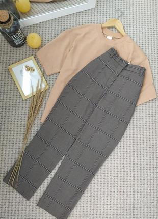 Шикарные брюки слаксы в клетку красивых оттенков h&m