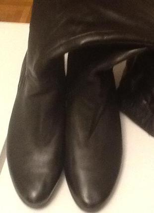 Итальянские кожаные утеплённые сапоги venturini 41 (27) на широкую полную ногу