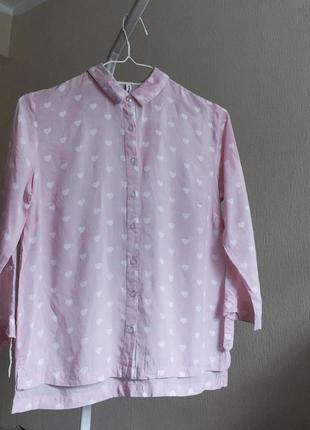 Рубашка в сердечка
