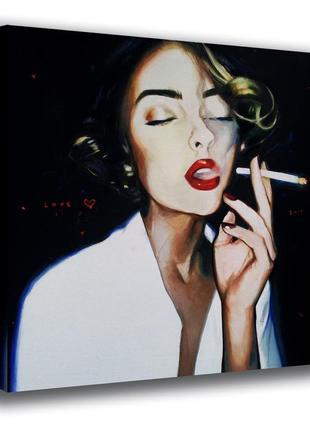 """Шикарная картина в интерьер """"девушка с сигаретой"""""""