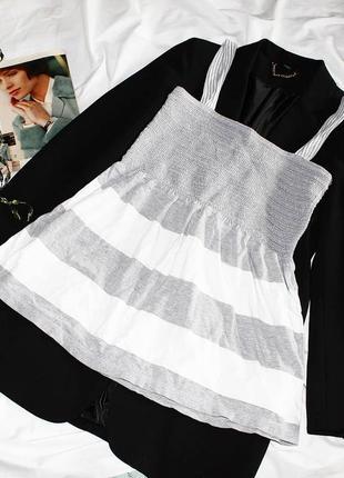 Сарафан блуза майка в полоску из хлопка george платье плаття сукня
