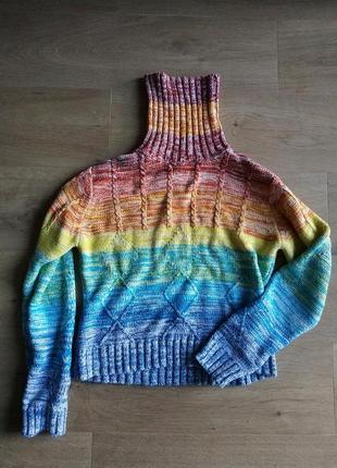 Любимый радужный свитер