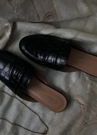 Мюли туфли лоферы на низком ходу fashion&bella {италия}