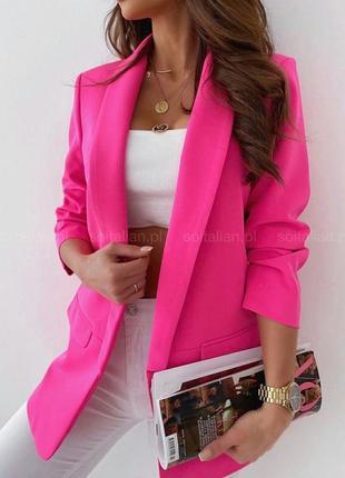 Яркий пиджак костюмка разные цвета