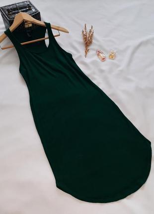 Зелене обгячуюче плаття в рубчик панчоха/зелёное обтягивающиее платье в рубчик чулок