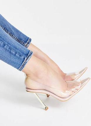 Шикарные силиконовые прозрачные туфли лодочки ego public desire/бомба