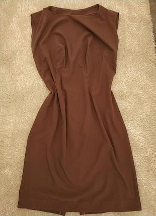 ‼️акция‼️ платье квета капучино футляр большой размер, базовое кофейное миди платье