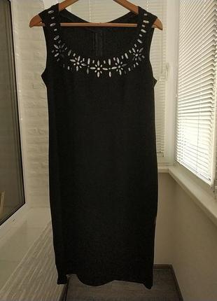 ‼️акция‼️черное платье футляр большой размер, базовое черное миди платье