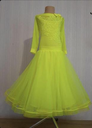 Платье для спортивно бальных танцев стандарт бейсик 146-155см