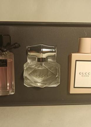 Gucci набор парфюмерии flora, bloom, bamboo